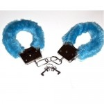 Fur handcuffs (medium blue)