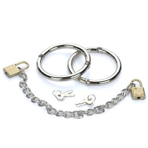 Intimate Love-Cuff Stainless Steel Handcuffs with Keys & Locks