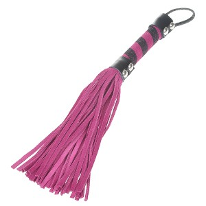 Soft Intimate Leather Short Whip with Strap (Color Assorted)
