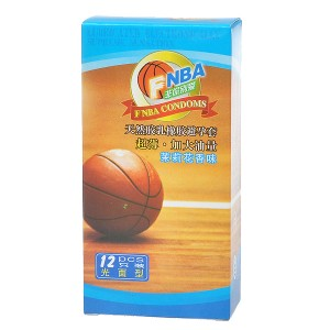 NBA Jasmine Flavored Natural Latex Lubricated Condoms (12-Pack)