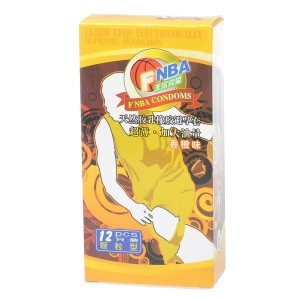 NBA Orange Flavored Natural Latex Lubricated Condoms (12-Pack)