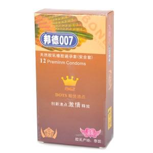 Bond007 Ultra-Thin 0.03mm Natural Latex Condom (Orange Scent / 12-Pack)
