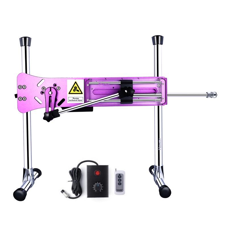 "HISMITH Premium Sex Machine with 8"" Silicone Dildo, Kliclok System Love Machine with Remote Control Edition, Noble Purple"