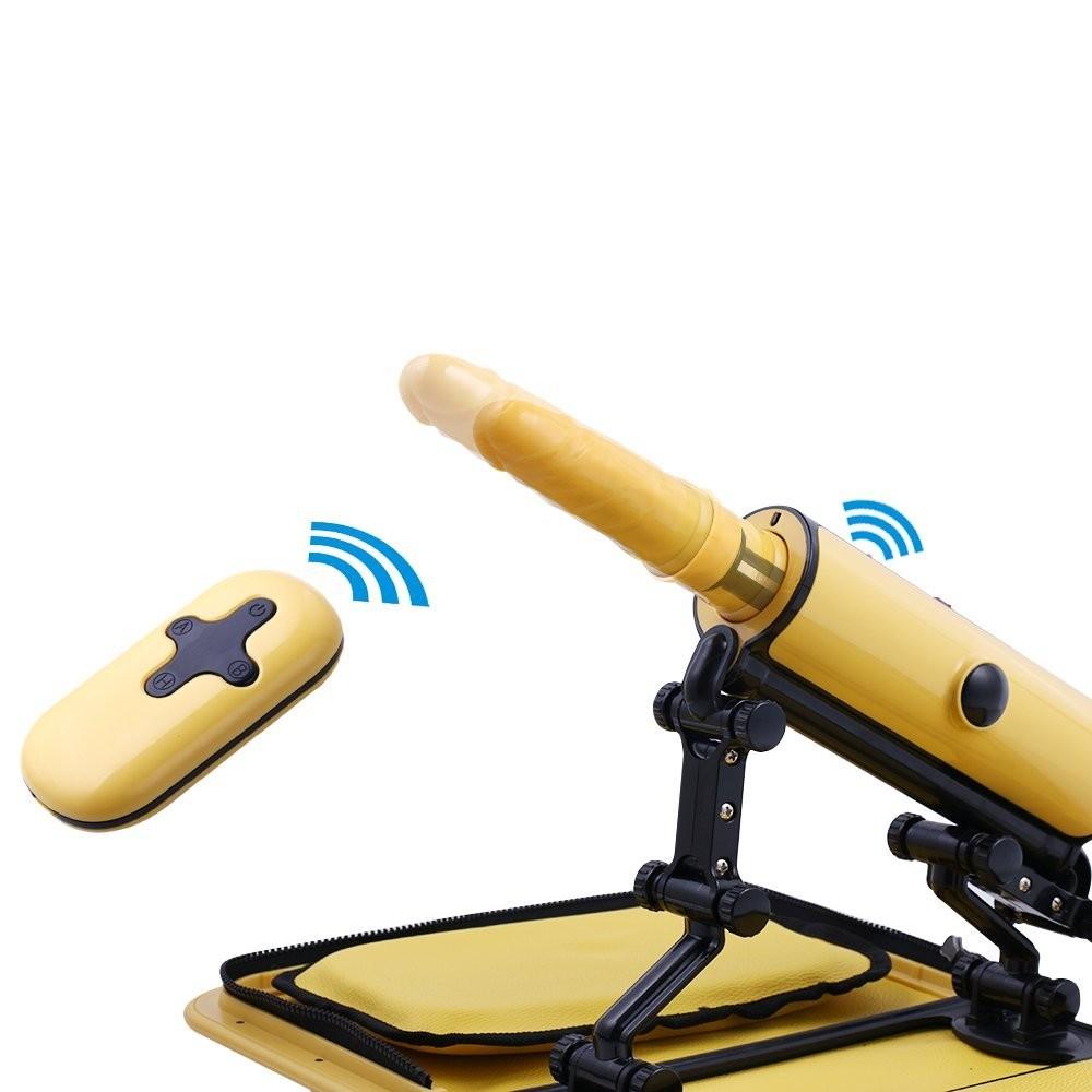 Portable Handbag  Remote Sex Machine With Vibration Dildo