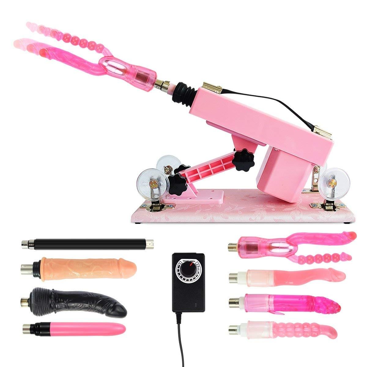 Sex Machine Multi-Speed Adjustable Thrusting Machine  with Attachments