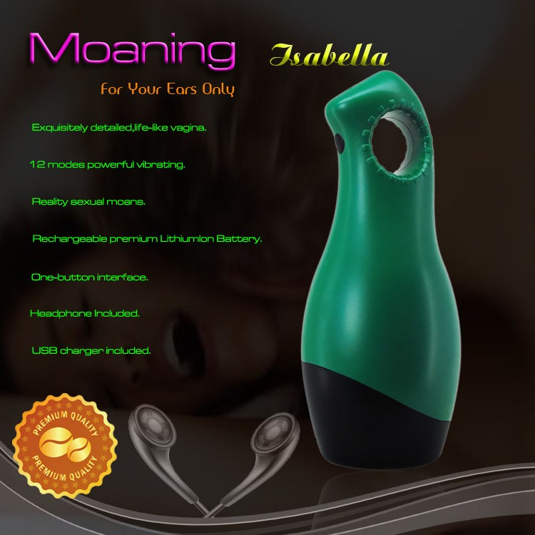 Sexual Moans Moaning Grace Male Masturbator Tight Soft Jelly & Super Stretchy Sex Cup - Green