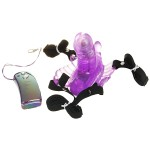Vibrating Butterfly Transparent Dildo with Wireless Vibration Switch Controller