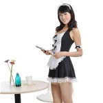 Naughty Night Cosplay French Maid Lingerie Clothes Dress Costume Set 3 Piece
