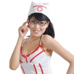 Naughty Night Cosplay Nurse Lingerie Clothes Dress Costume Set 3 Piece