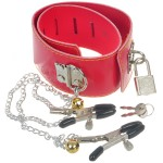 Intimate Neck Collar Cuff with Clip + Bells Set - Color Assorted