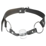 Stainless Steel Mouth O-Ring Lock Harness with Crystal Ball