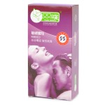 Double Butterfly Ribbed Natural Latex Premium Condoms - Pink (10-Piece Pack)