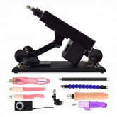 Female Masturbation Sex Machine Gun with Many Dildo Accessories - E