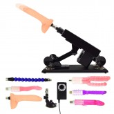 Female Masturbation Sex Machine Gun with Many Dildo Accessories - J