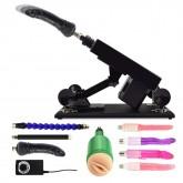 Female Masturbation Sex Machine Gun with Many Dildo Accessories - C