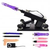 Female Masturbation Sex Machine Gun with Many Dildo Accessories - K