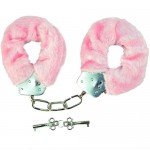Novelty Item Sex Toys High Quality Plush Lovers Handcuffs Pink