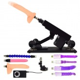 Female Masturbation Sex Machine Gun with Many Dildo Accessories - F