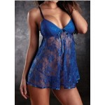 Blue sexy lingerie babydoll sleep wear one size to fit S M L